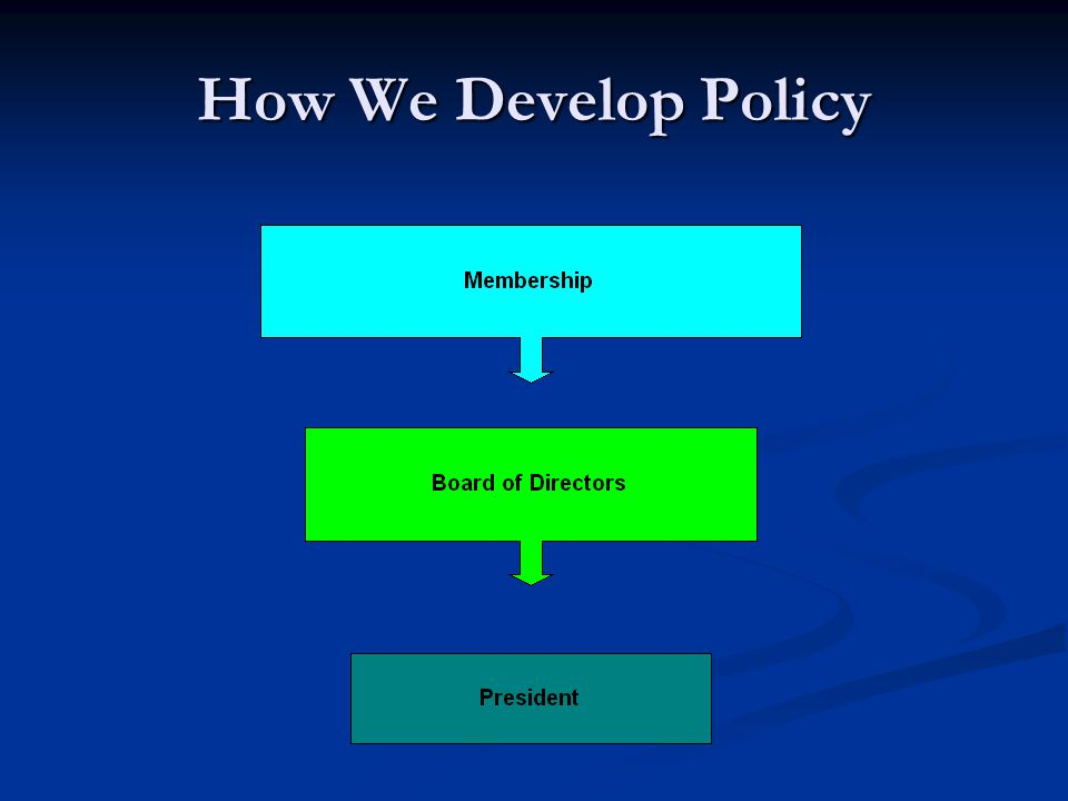 How We Develop Policy
