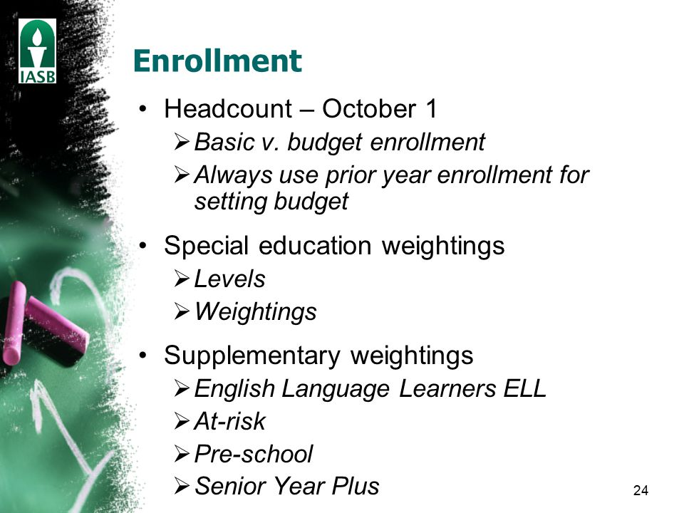 24 Enrollment Headcount – October 1  Basic v.