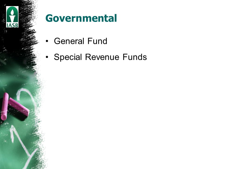 Governmental General Fund Special Revenue Funds