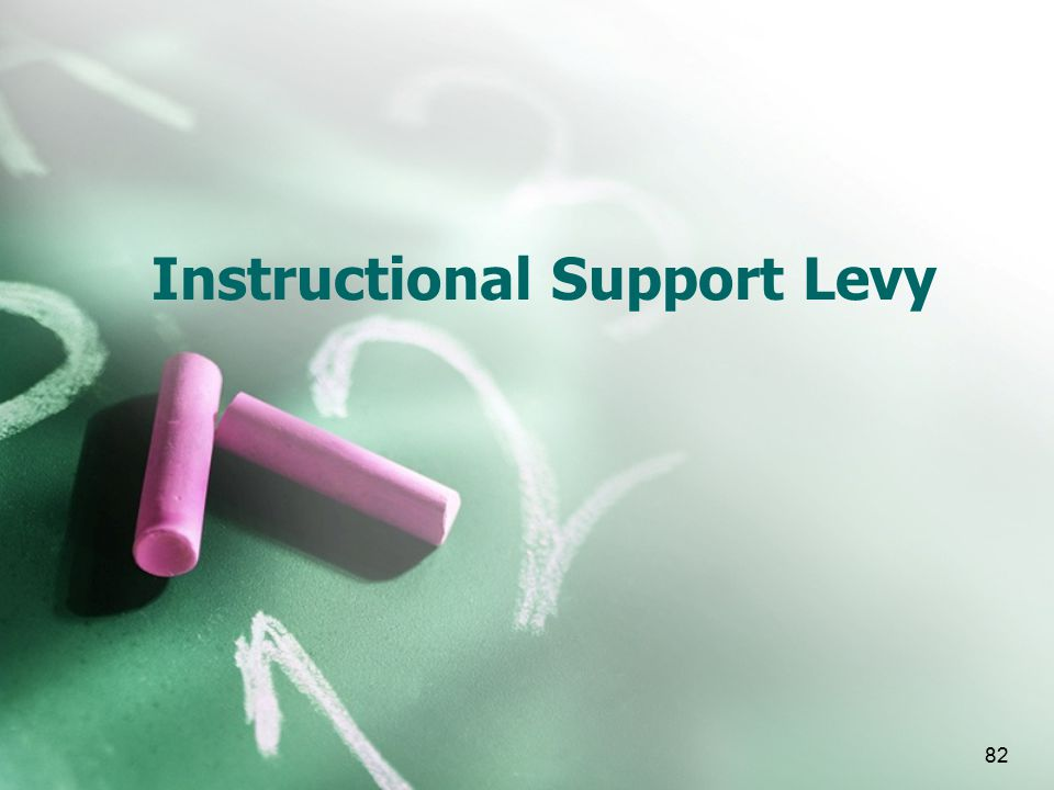 82 Instructional Support Levy