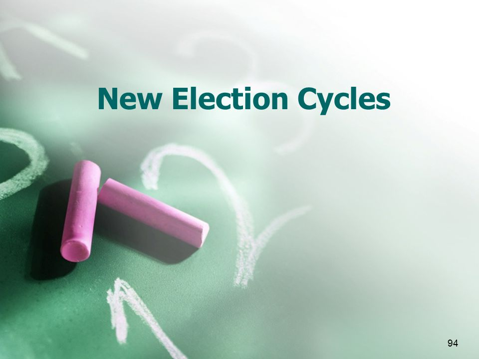 94 New Election Cycles