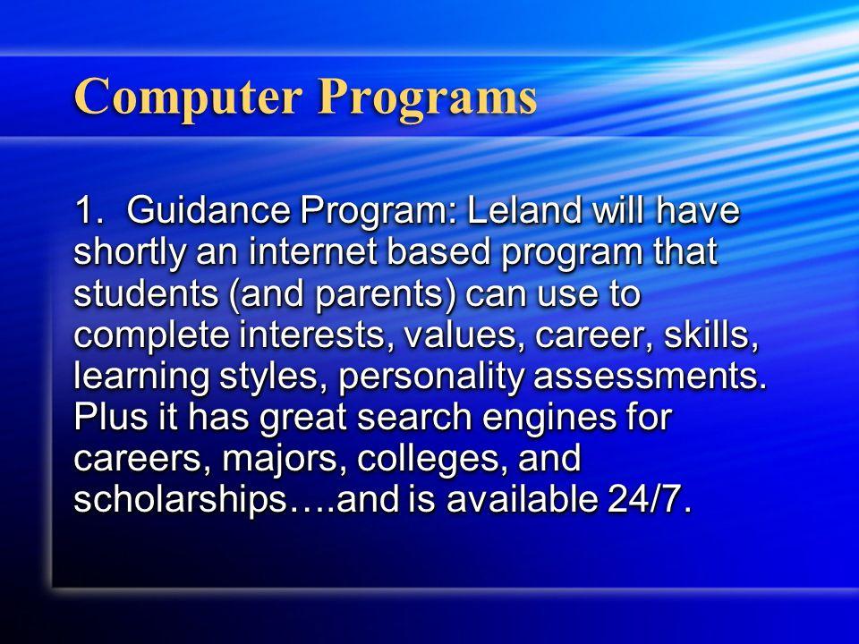 Computer Programs 1.