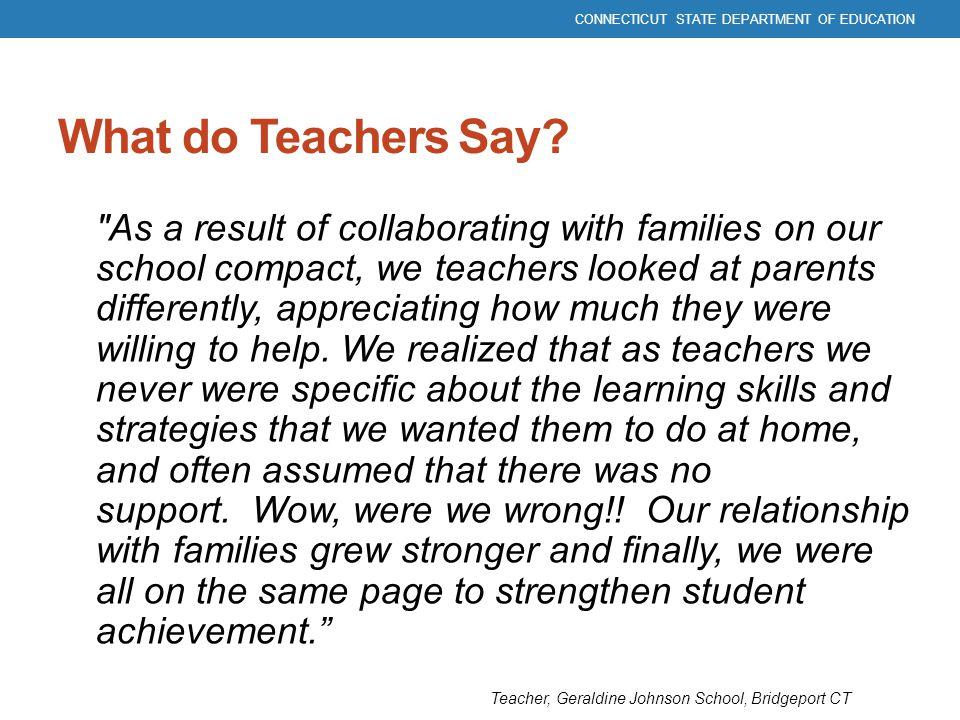What do Teachers Say?