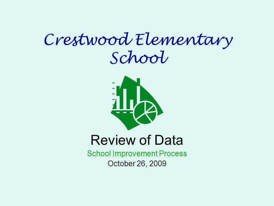Crestwood Elementary School Review of Data School Improvement Process October 26, 2009