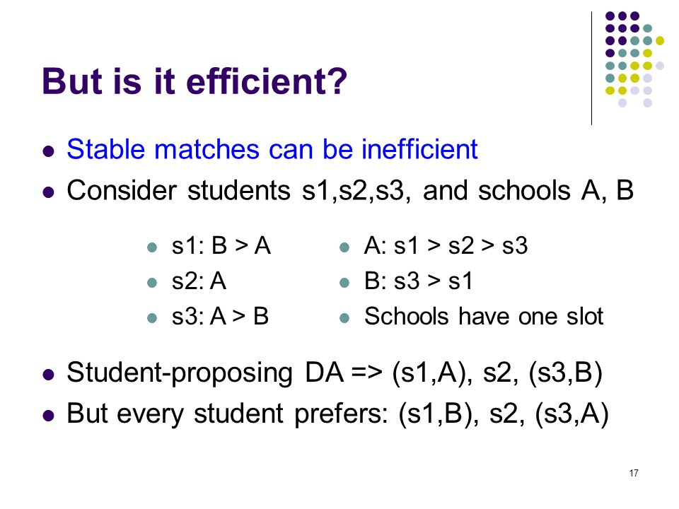 But is it efficient.
