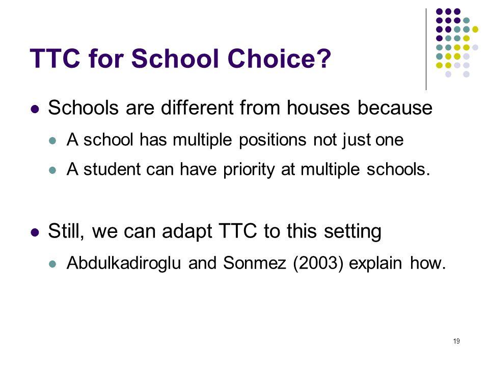 TTC for School Choice.