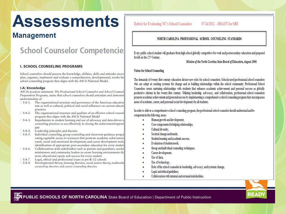Assessments Management
