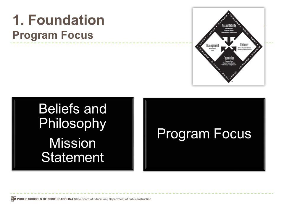 1. Foundation Program Focus