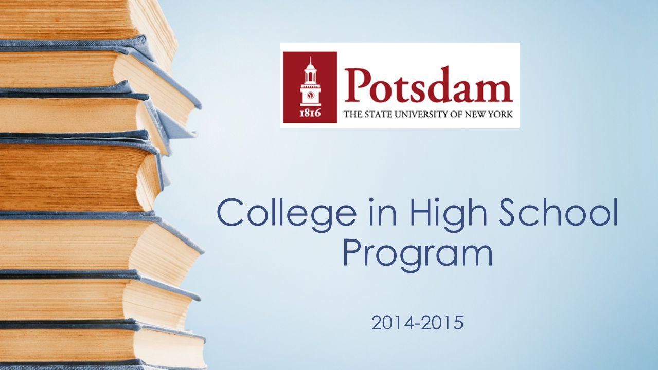 College in High School Program 2014-2015