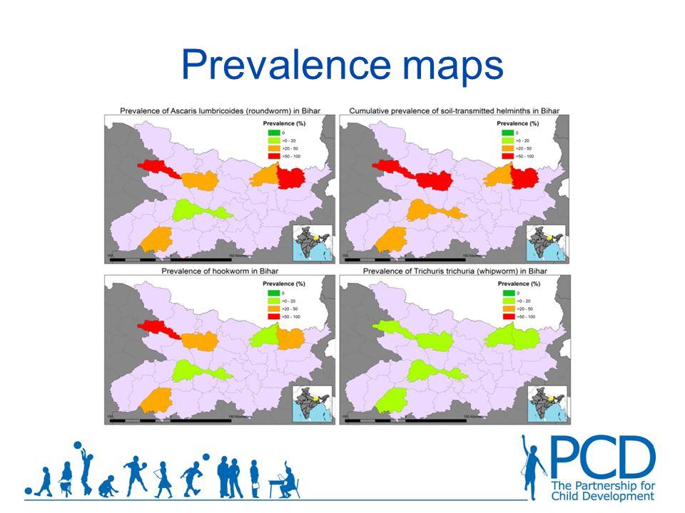 Prevalence maps