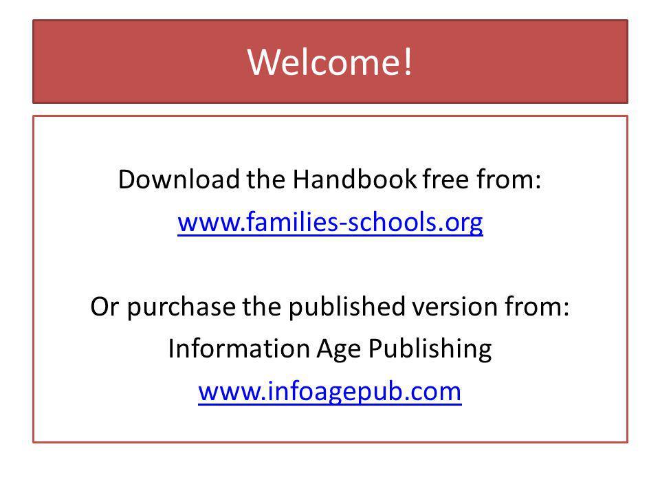 How the Handbook is Organized.