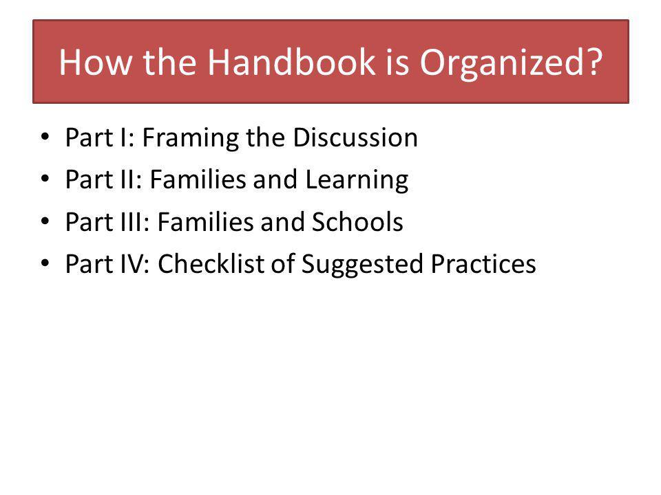 Why the Handbook.