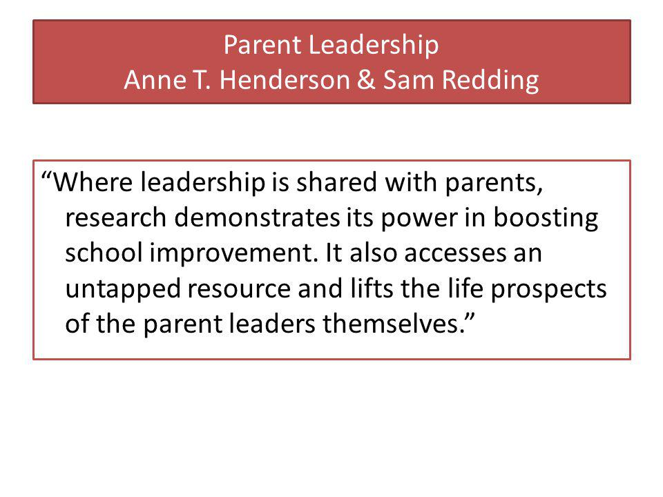Parent Leadership Anne T.