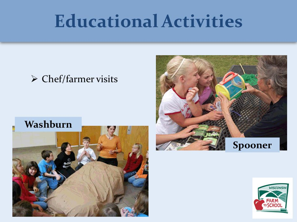  Chef/farmer visits Washburn Spooner Educational Activities