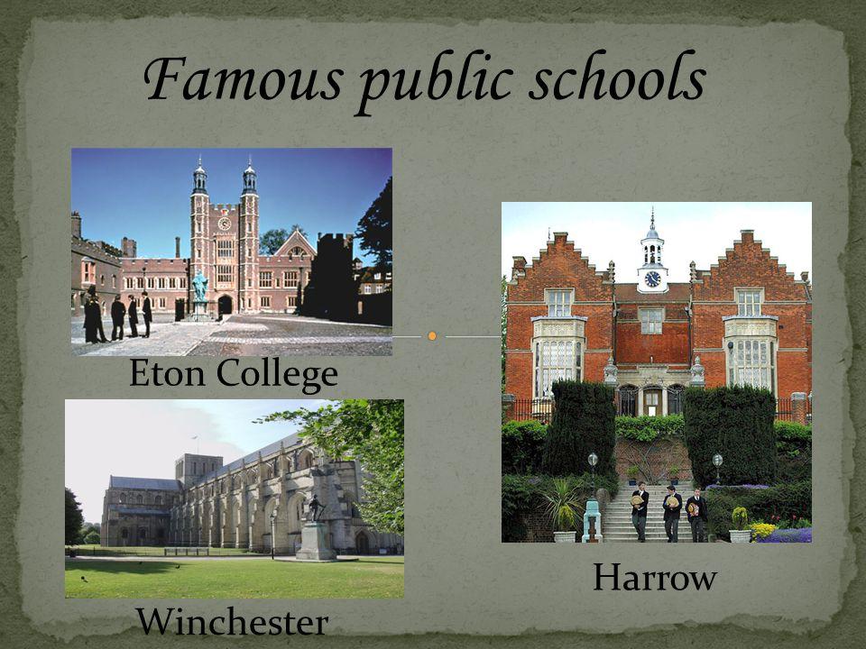 Eton is one of England's prestigious schools. It is an all-boys school.