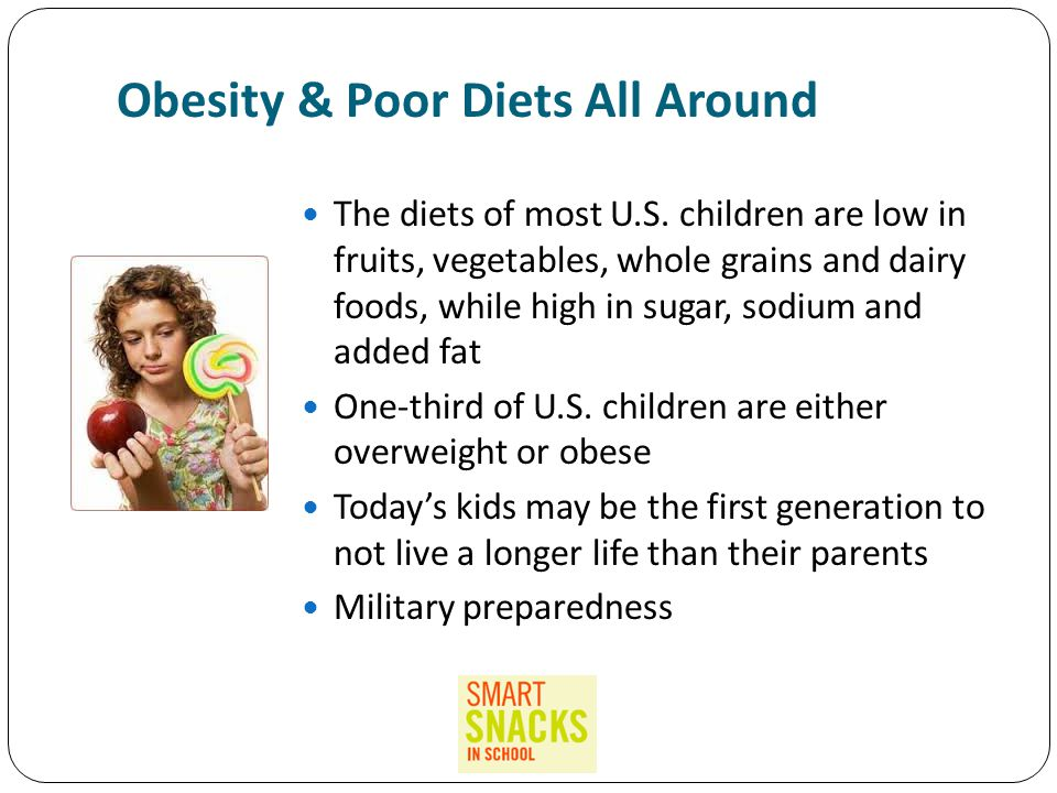 Obesity & Poor Diets All Around The diets of most U.S.