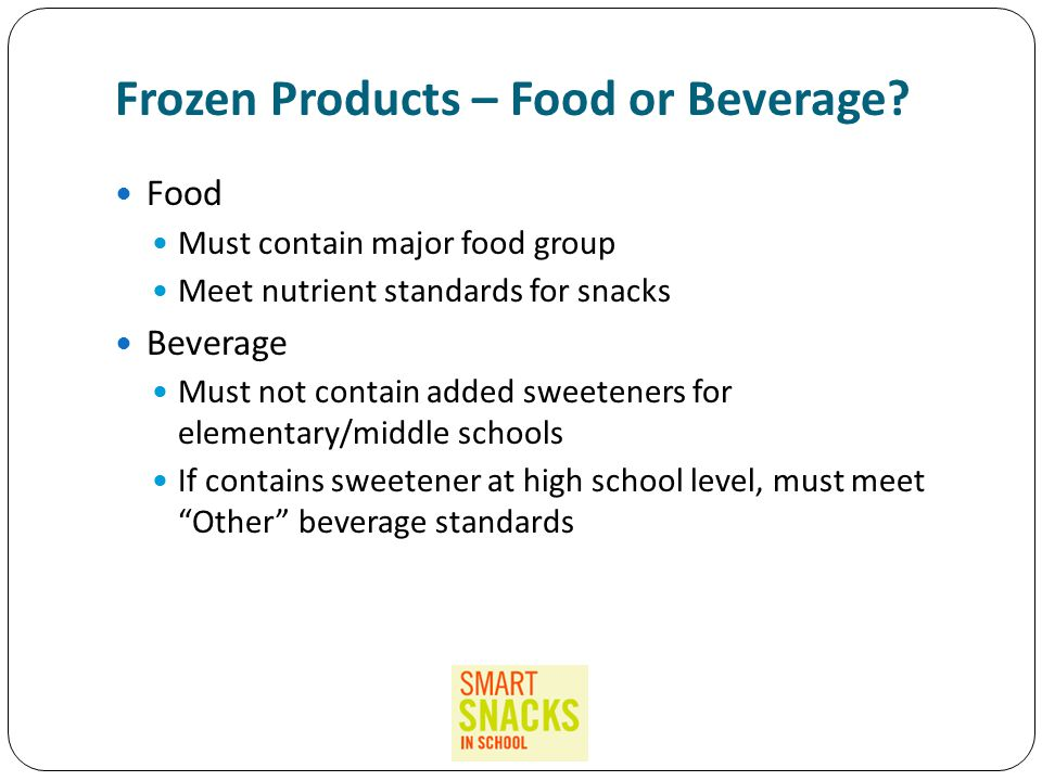 Frozen Products – Food or Beverage.