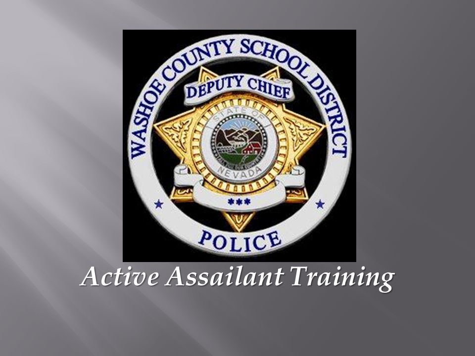  This training video was made in June of 2011 at Sparks Middle School  Sparks Police and Remsa assisted with the training  We will watch the video in its entirety and follow up with a Q& A session.