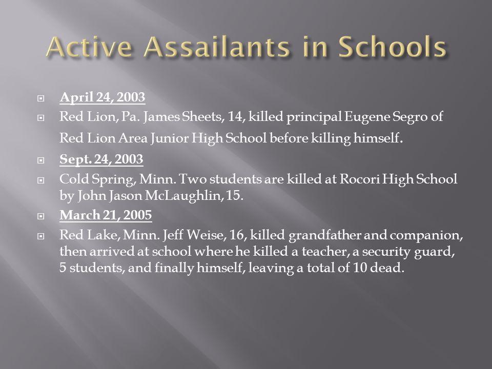  April 24, 2003  Red Lion, Pa.