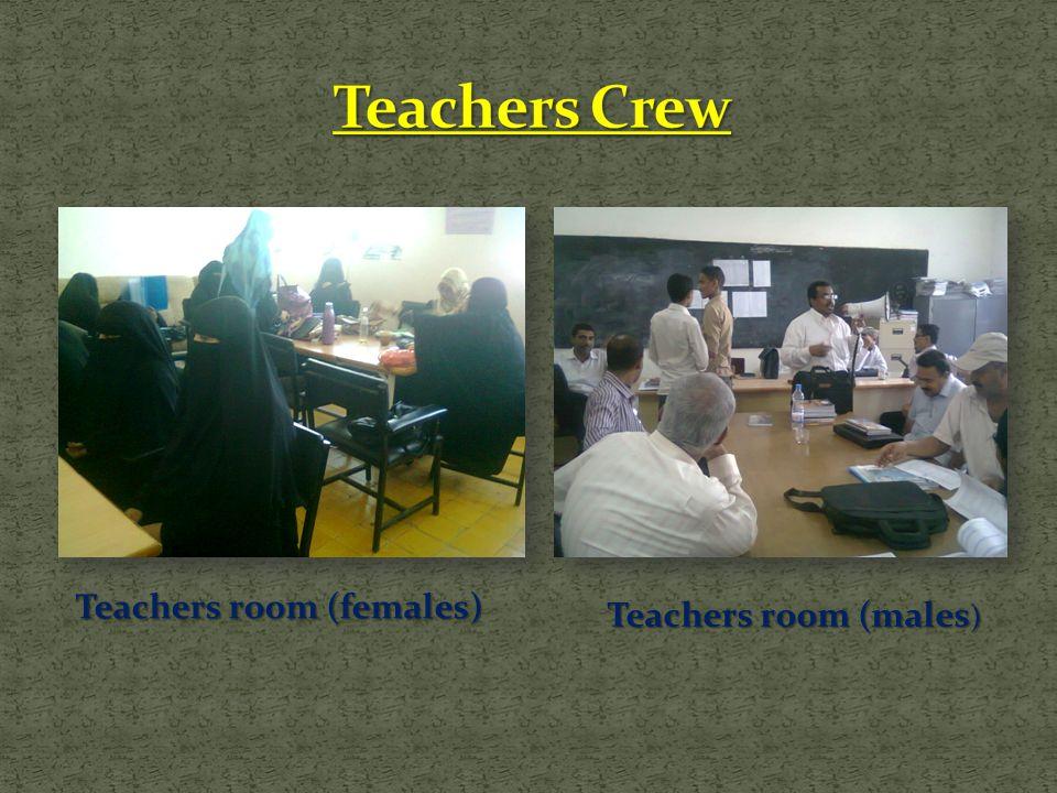Teachers room (males ) Teachers room (females)