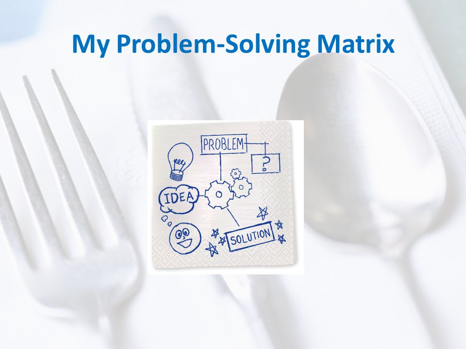 My Problem-Solving Matrix