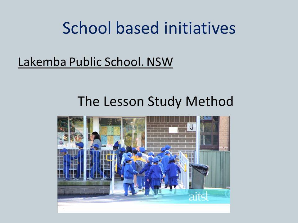 School based initiatives Lakemba Public School. NSW The Lesson Study Method
