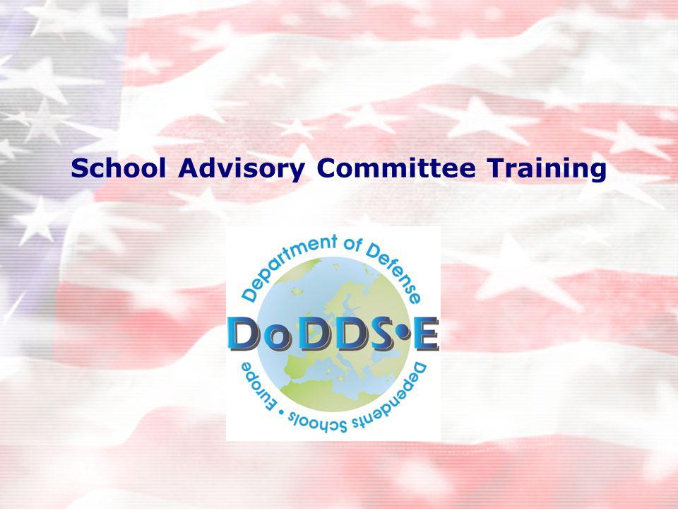 School Advisory Committee Training