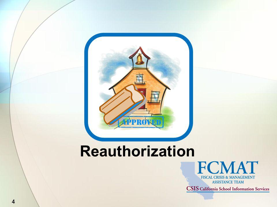 Reauthorization 4