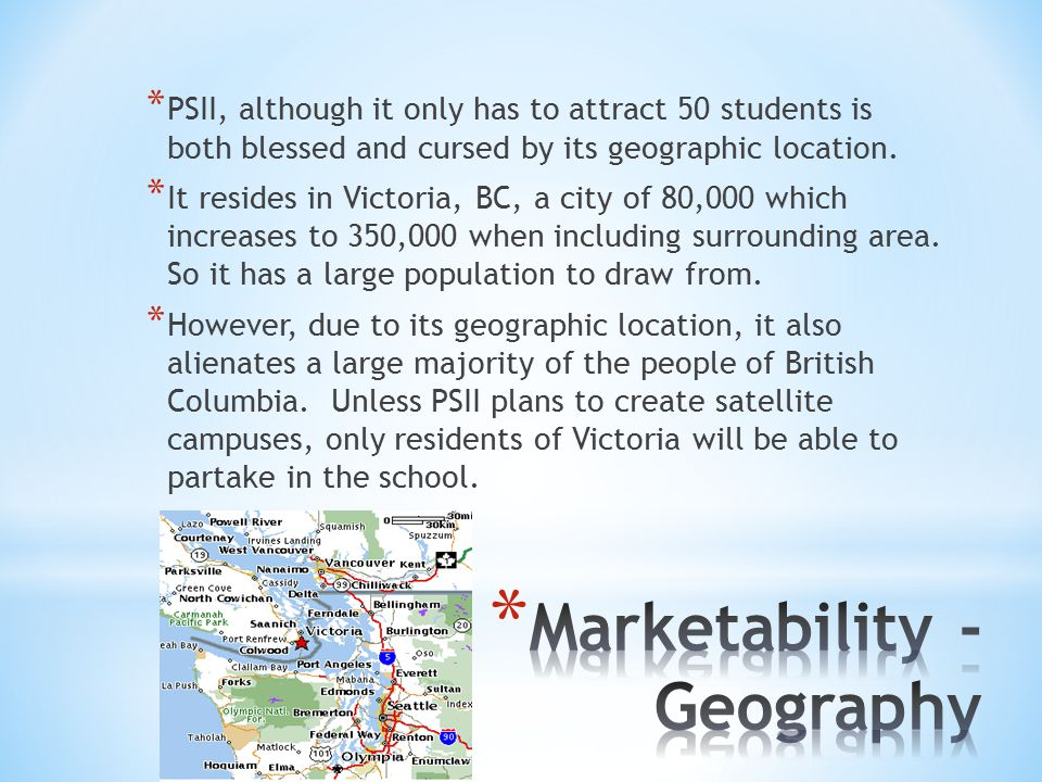 *P*P SII, although it only has to attract 50 students is both blessed and cursed by its geographic location.
