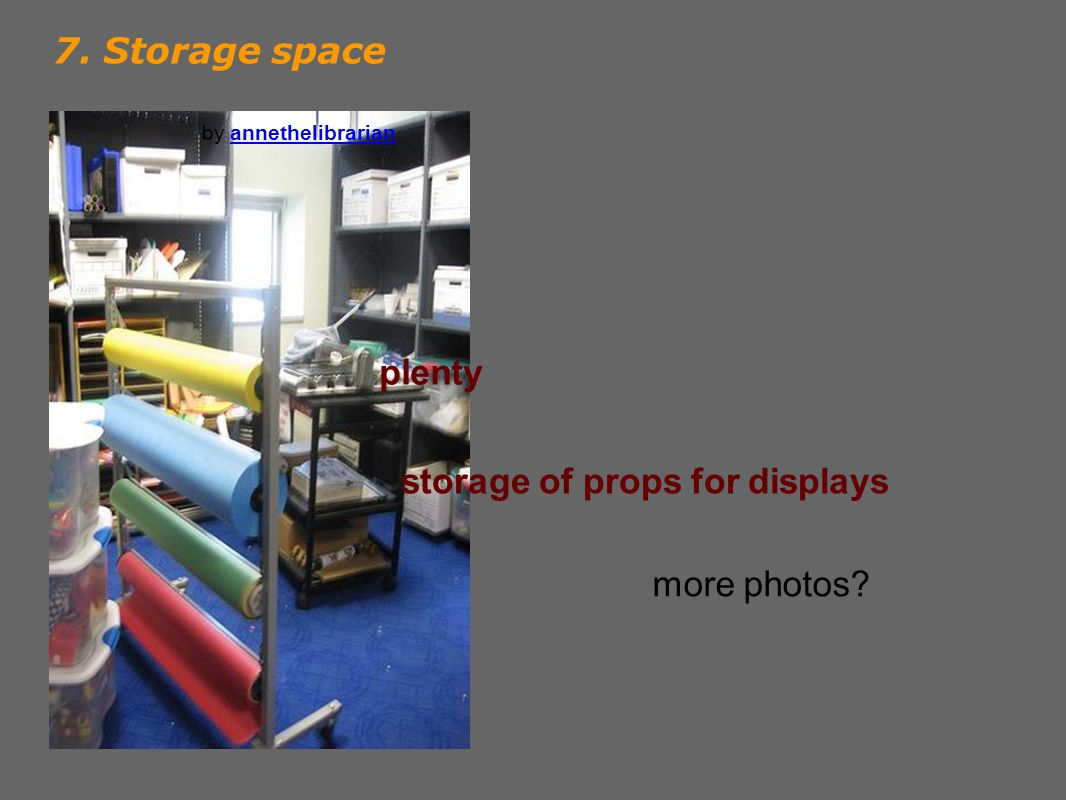 7. Storage space by annethelibrarianannethelibrarian more photos.
