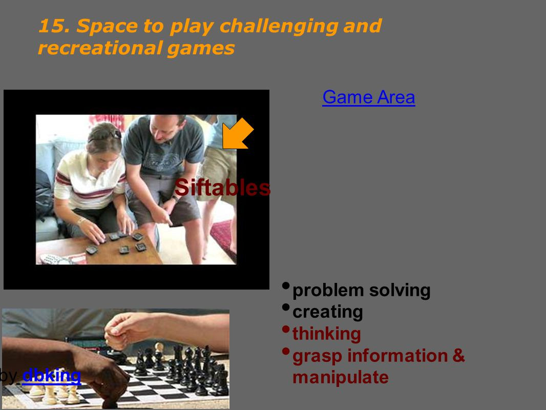 15. Space to play challenging and recreational games Siftables problem solving creating thinking grasp information & manipulate by dbkingdbking Game A