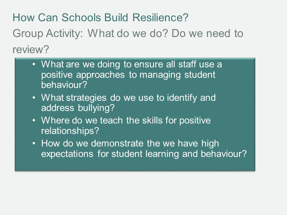 How Can Schools Build Resilience.What is Positive Psychology.