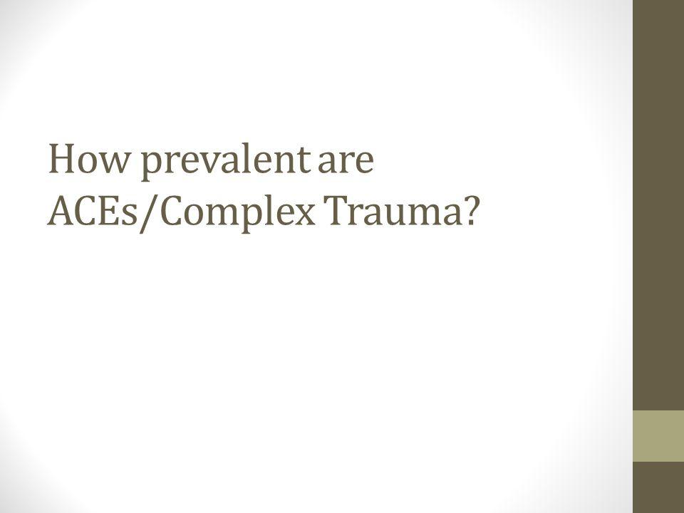 How prevalent are ACEs/Complex Trauma