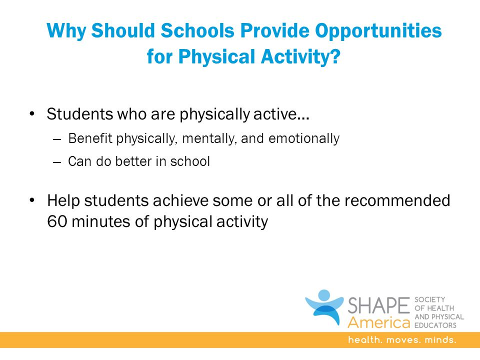 Why Should Schools Provide Opportunities for Physical Activity.