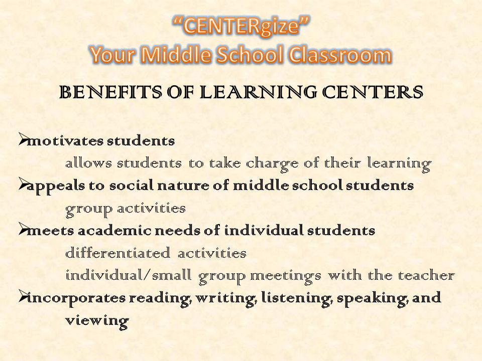 What is a learning center.