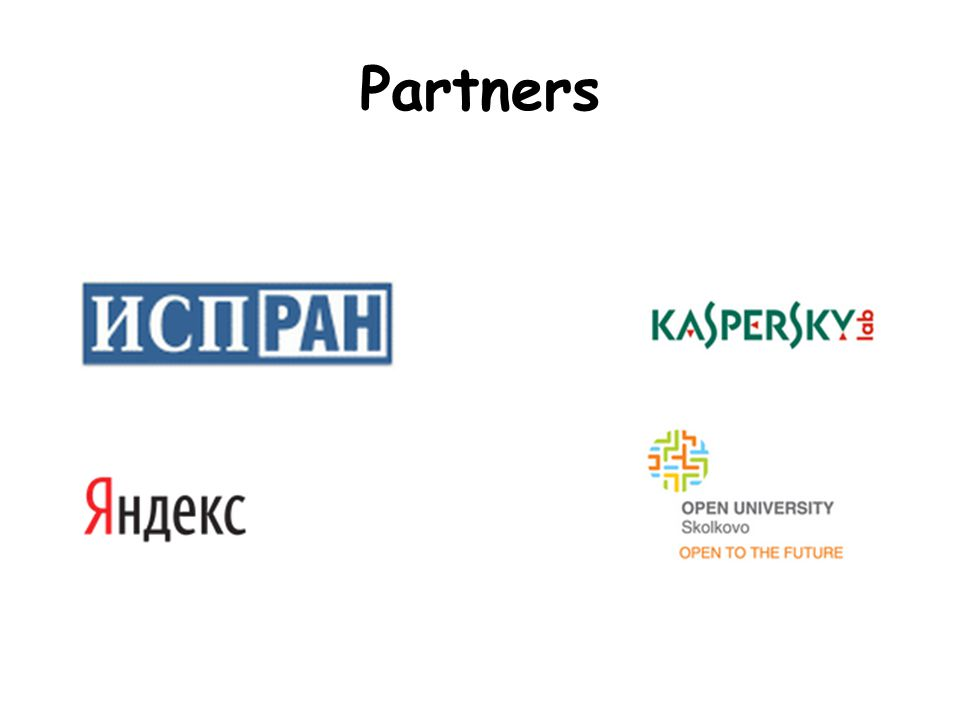 More Partners Technical co-sponsor In participation with…