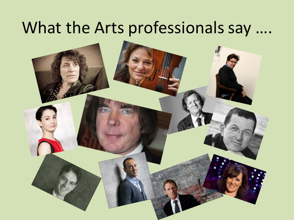 What the Arts professionals say ….