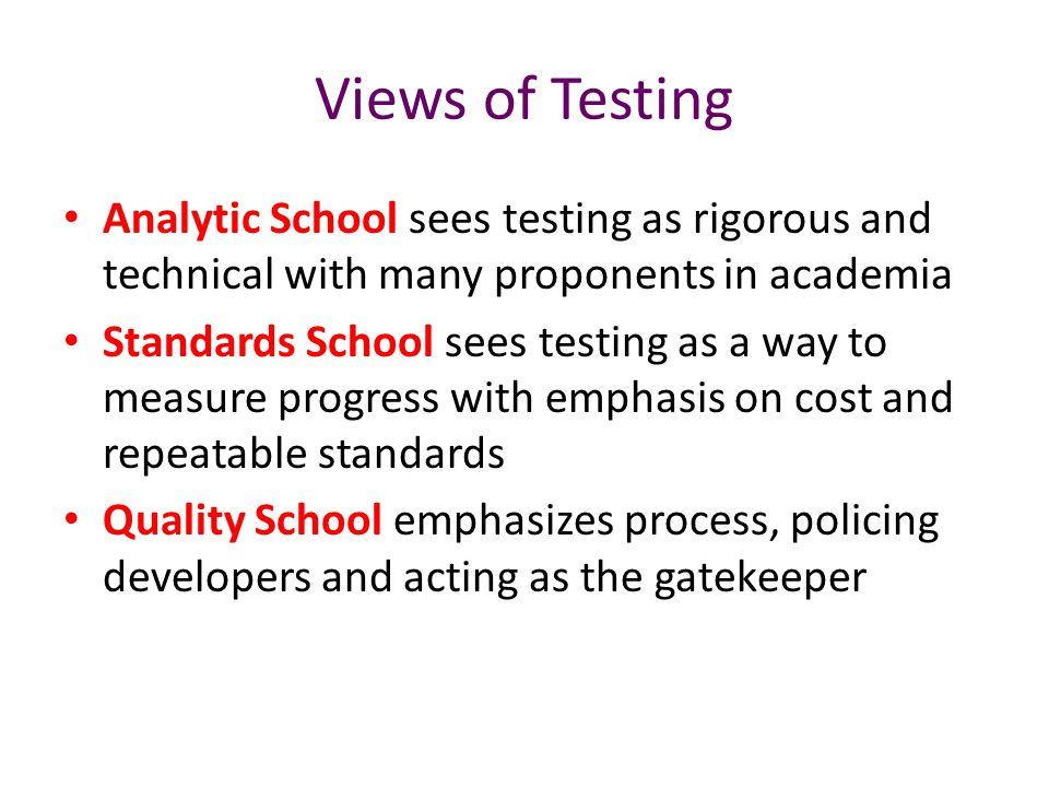 Quality School Exemplar The Gatekeeper The software isn't ready until QA says it's ready