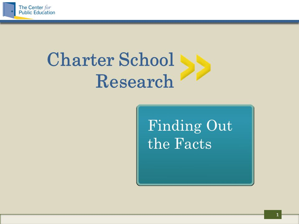 Charter School Research Finding Out the Facts 1