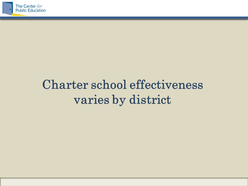 Charter school effectiveness varies by district