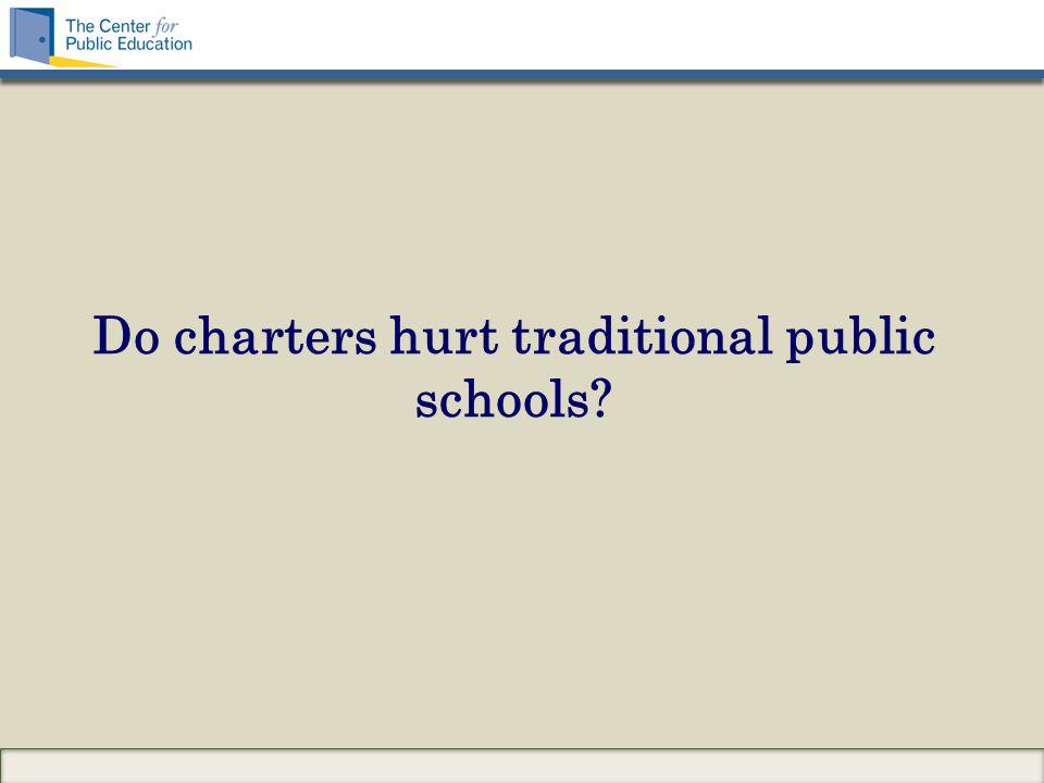 Do charters hurt traditional public schools