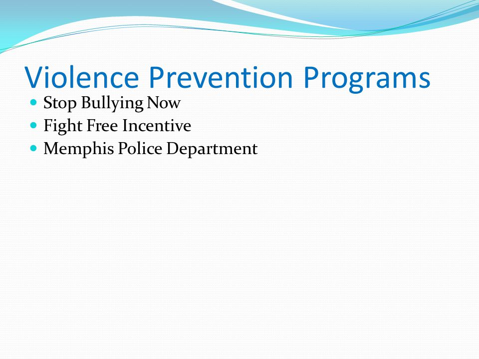 Violence Prevention Programs Stop Bullying Now Fight Free Incentive Memphis Police Department