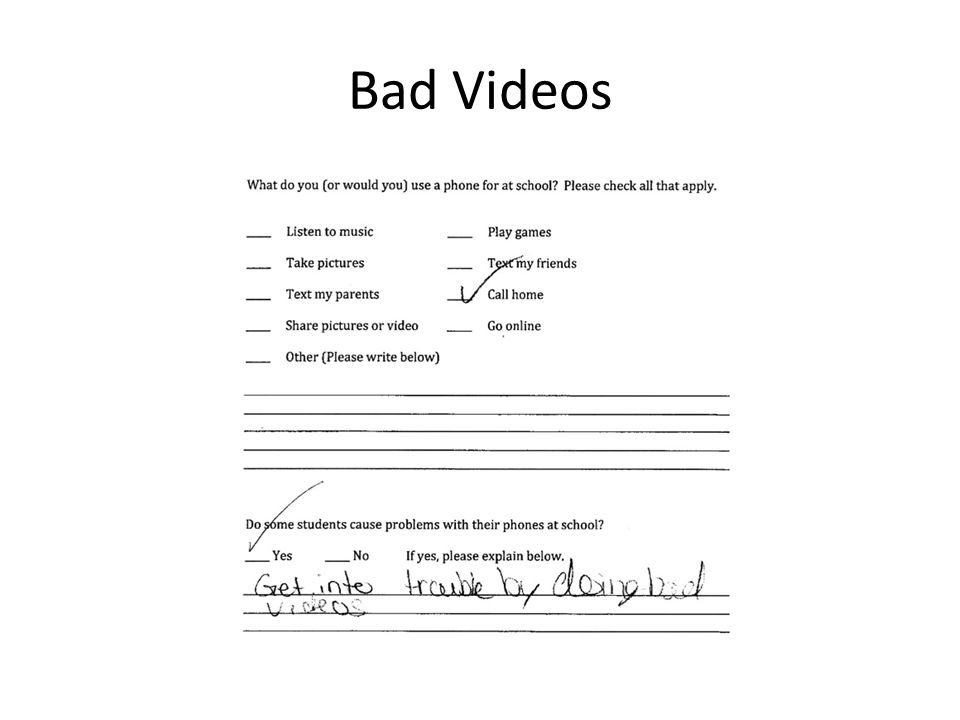 Bad Videos