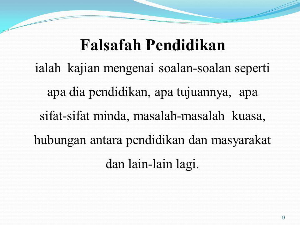 10 FALSAFAH PENDIDIKAN ISLAM Pendidikan Islam adalah satu usaha berterusan untuk menyampaikan ilmu, kemahiran dan penghayatan Islam berdasarkan al-Quran dan as-Sunnah