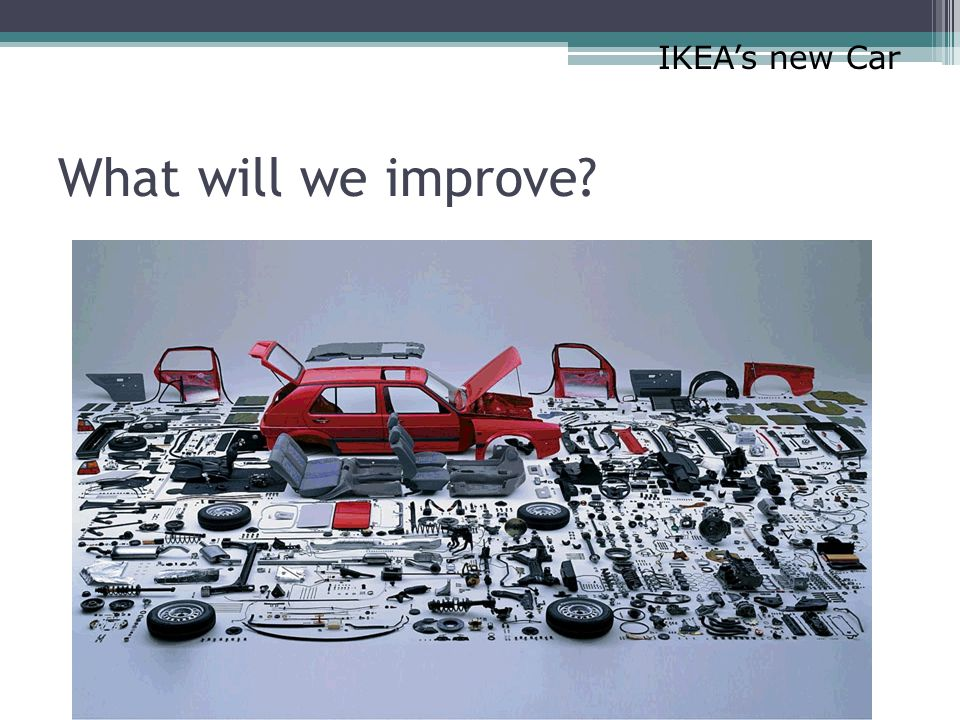 What will we improve? IKEA's new Car