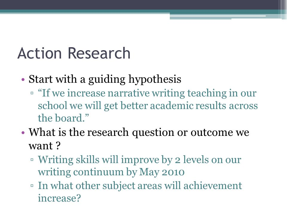 1- Action Research Compelling Questions Sense or urgency Personal Relevance Answers What's in it for me ? How can we reduce failure within a year.