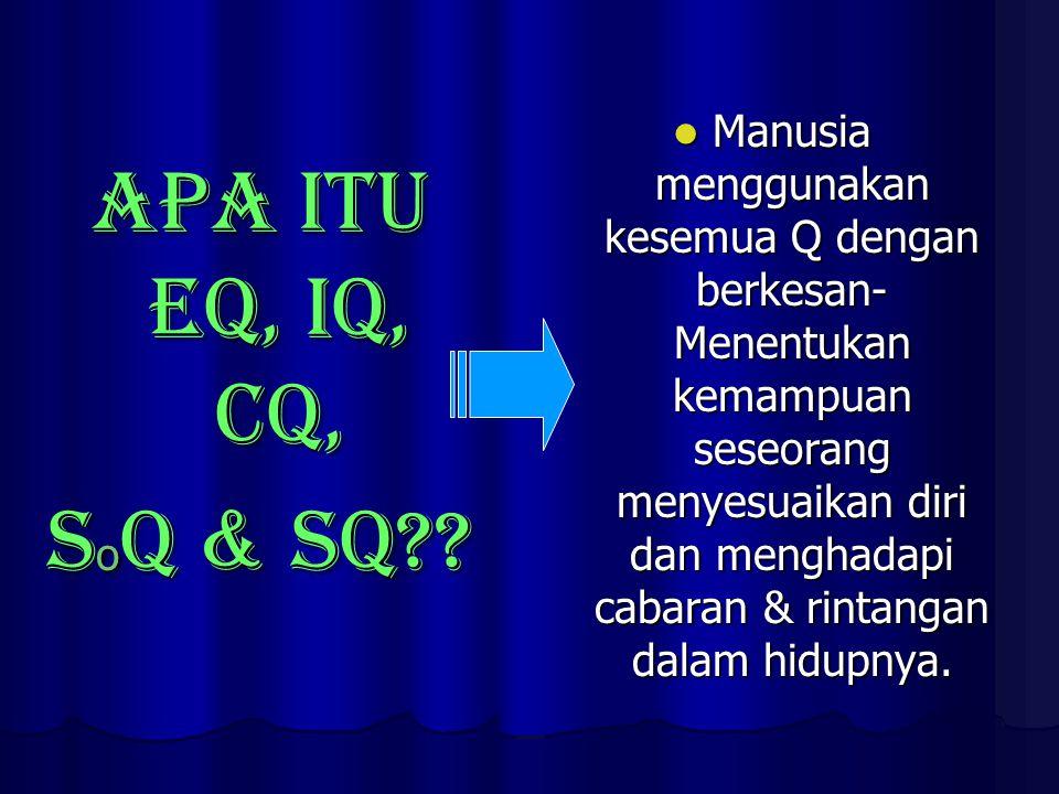 APA ITU EQ, IQ, CQ, S o Q & SQ .
