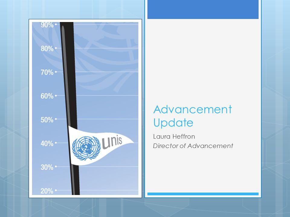 Advancement Update Laura Heffron Director of Advancement