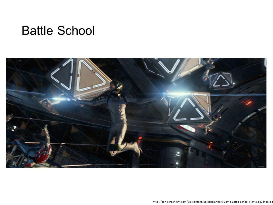 Battle School http://cdn.screenrant.com/wp-content/uploads/Enders-Game-Battle-School-Fight-Sequence.jpg
