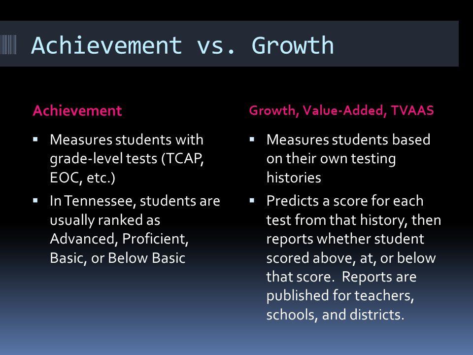 Achievement vs.
